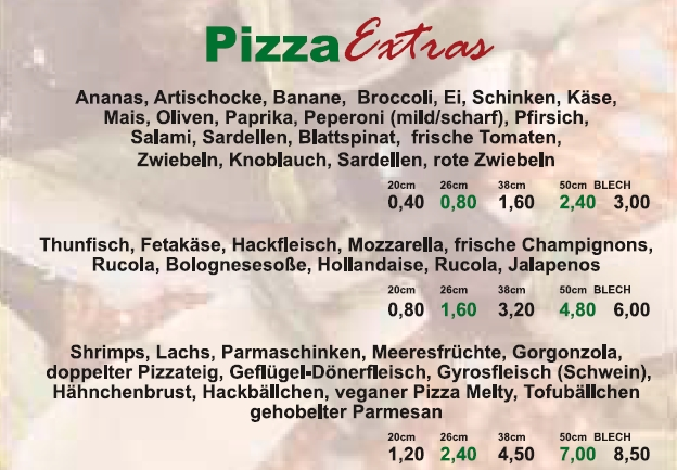 Pizza Extras